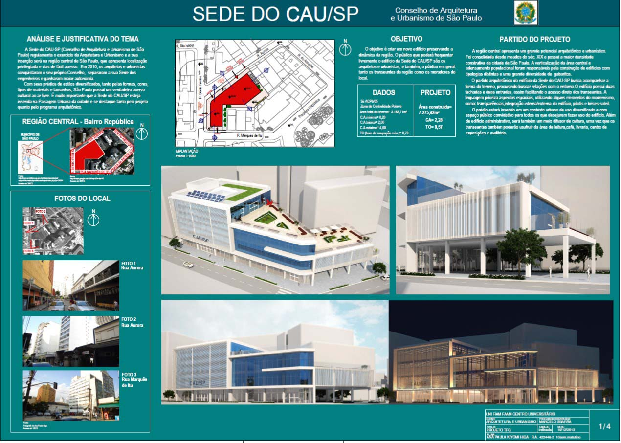Sede do CAU - Prancha 1