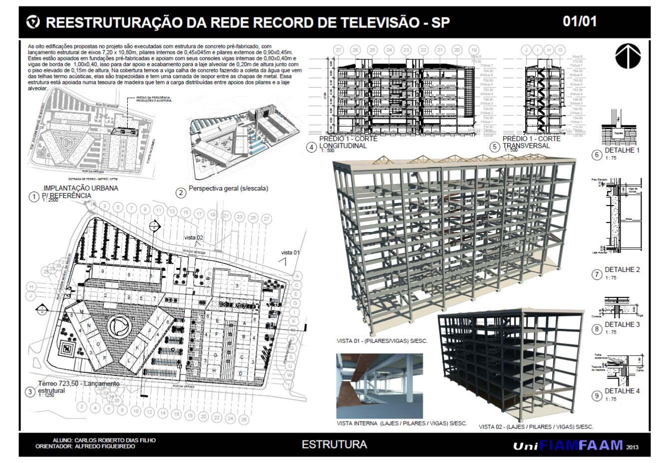 Rede Record - Prancha 05 (Sistema Estrutural)