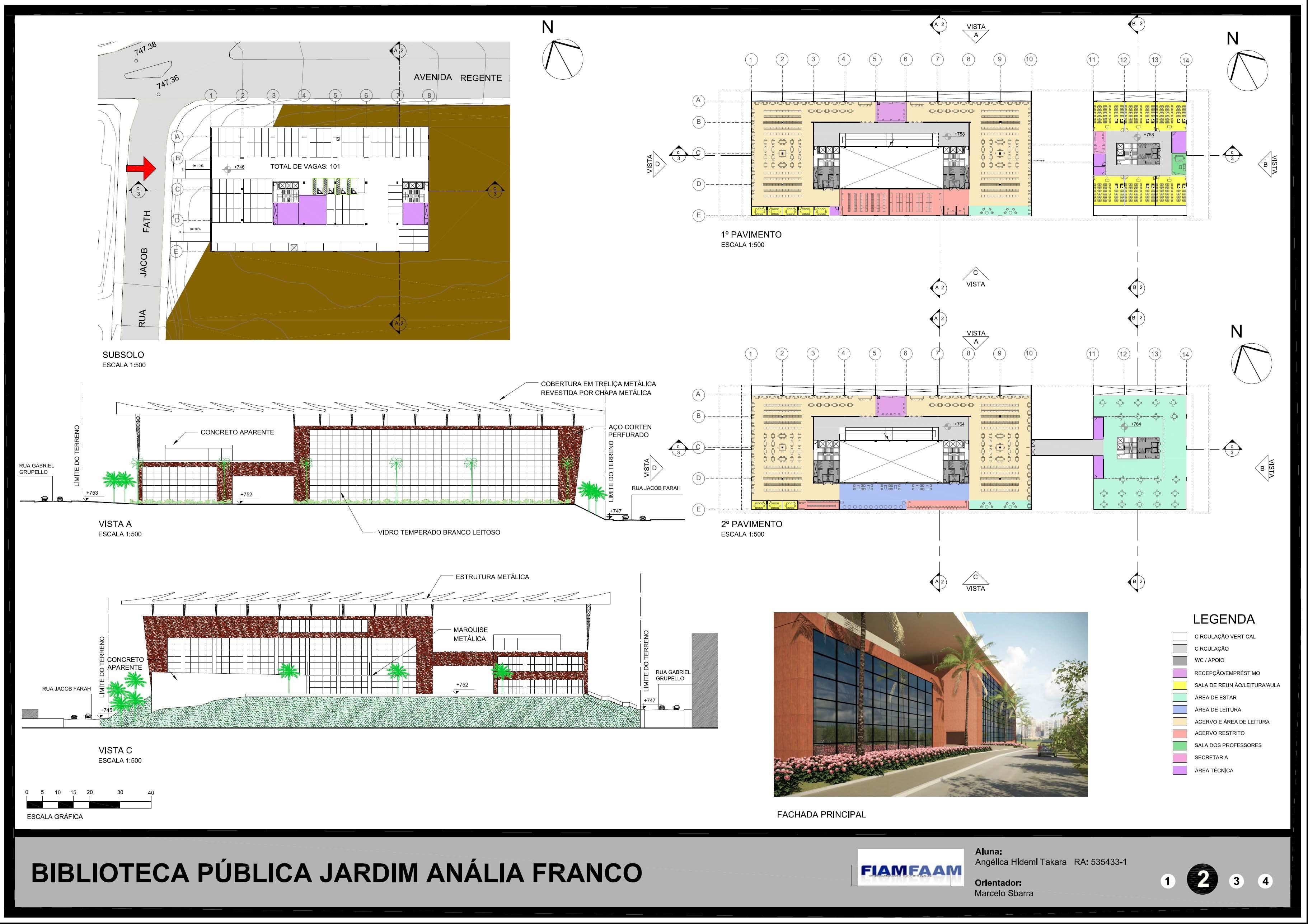 Biblioteca Anália Franco - Prancha 2