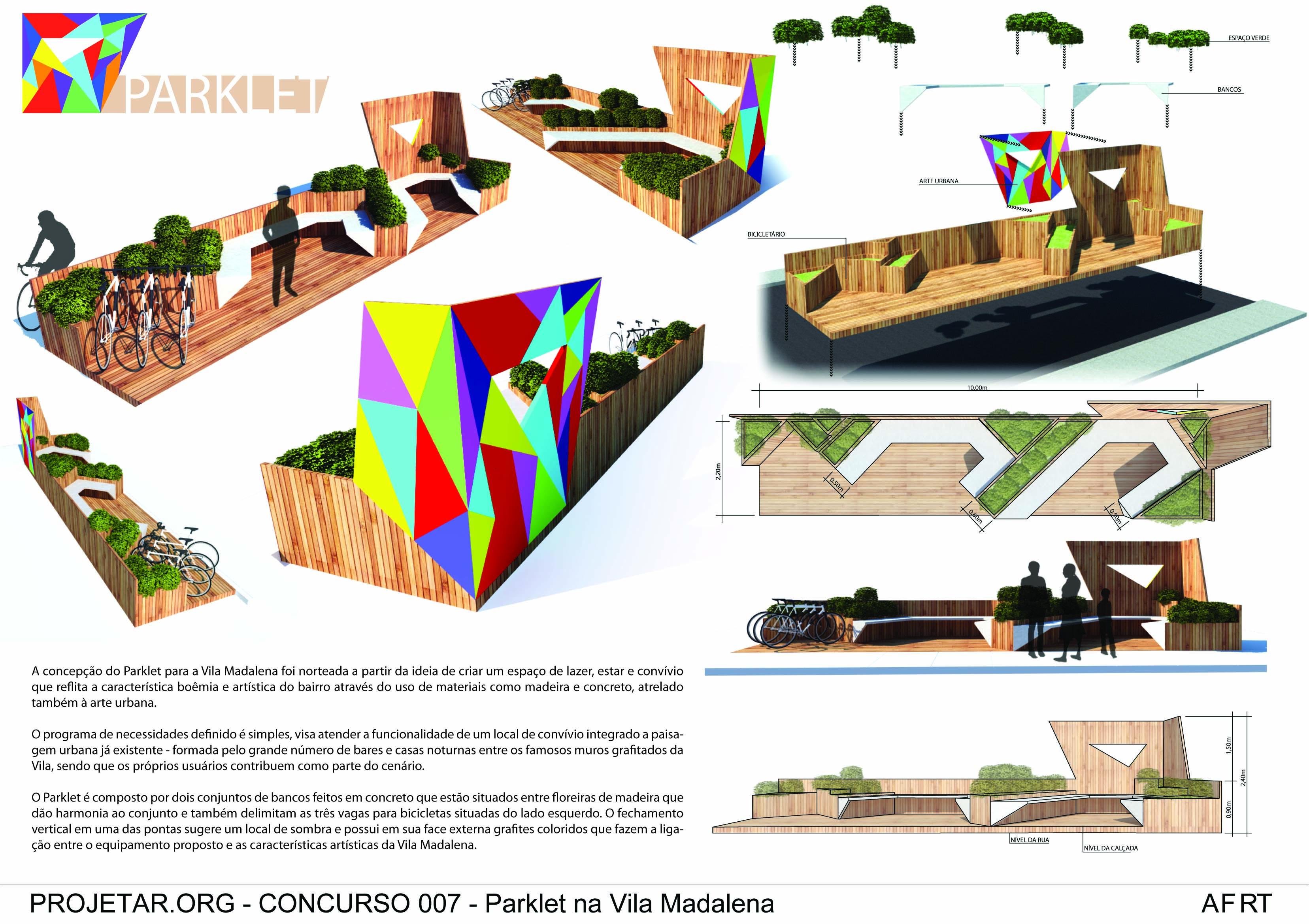 Concurso Projetar.org - Parklet - André, Fernanda, Rodrigo e Thiago