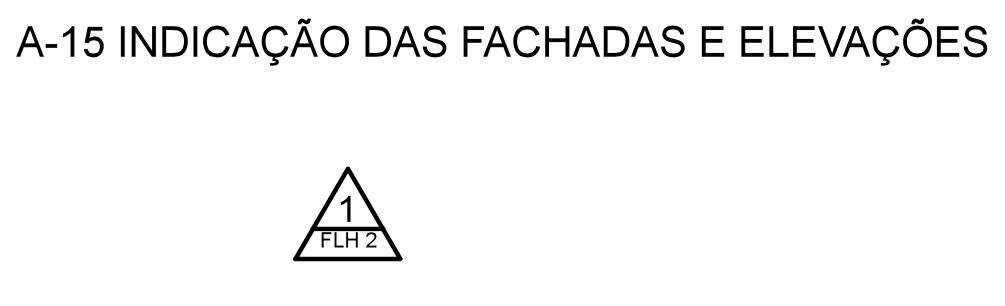 Exemplo de indicação de fachada