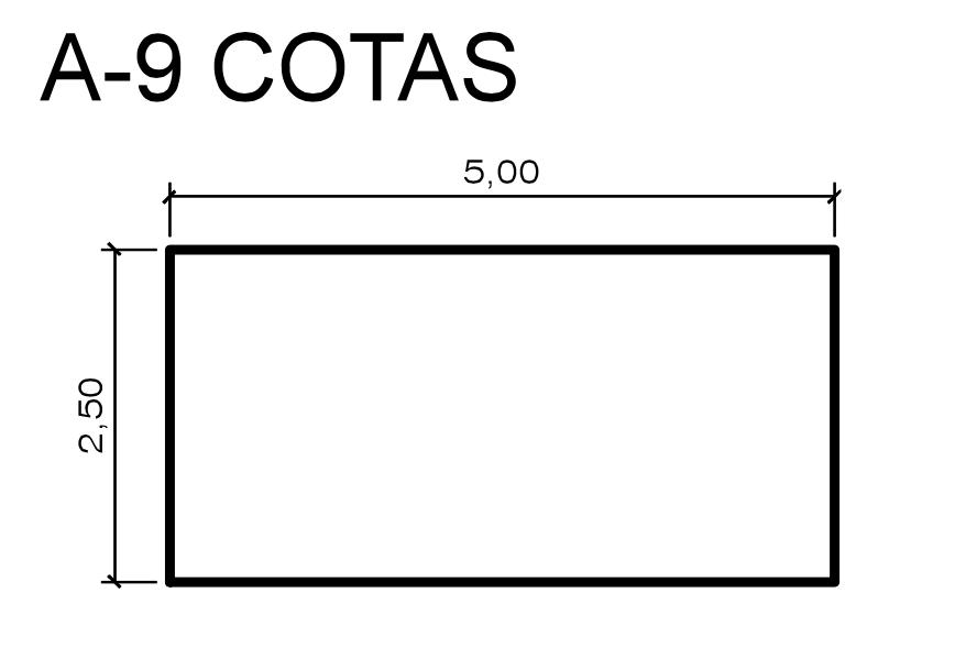 Exemplo de indicação de cotas
