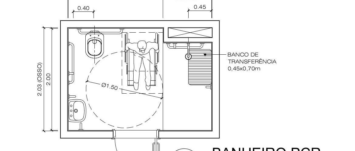 Suficiente Banheiros residenciais e de uso coletivo - NBR 9050/2015  HY82