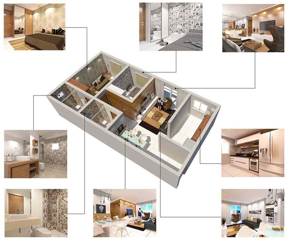Perspectiva e Humanização - 3D Arquiteto Bruno Massao (www.bmmaquetes.com)