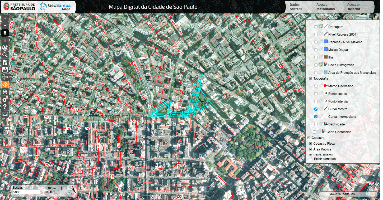 GeoSampa - Topografia